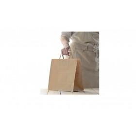 Tray medium / Brown Corrugated Kraft / Print - 250 pcs