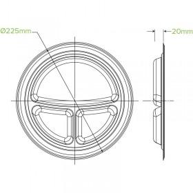 1 PLY Tall Dispenser Napkin (E Fold)Natural 240x240 - 5000 pcs