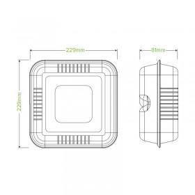 2 PLY 1/8 Fold Dinner White Bio Napkin 400x400 1000 pcs
