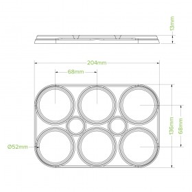 Brown Catering Tray - Small 50mm high - 100 pcs