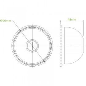 12 OZ(80mm) PLA SW Cup / Plain White - 1000 pcs
