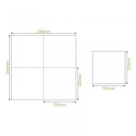 3 Compartment Bio Asian Takeaway Box (530/150/150ml) - NATURAL 500 pcs