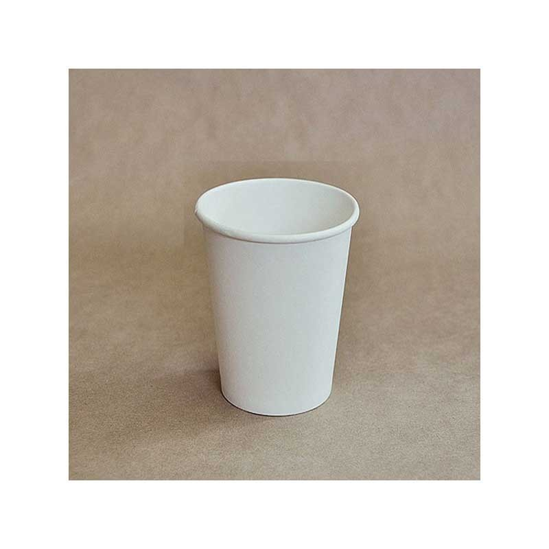 10oz Biodegradable Single Wall Coffee Cup Plain White