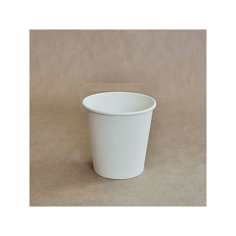 8oz Biodegradable Single Wall Coffee Cup Plain White