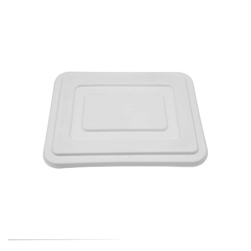 Lids for 5 Compartment Tray Sugarcane Bagasse 400 pcs