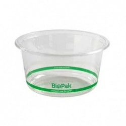 700ml Clear Bioplastic Wide...