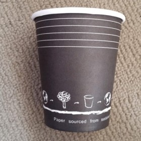 Black 8oz Single Wall Cup...